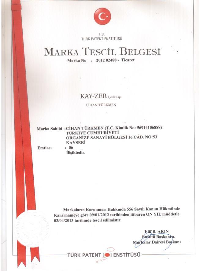 MARKA TESCİL BELGESİ-1